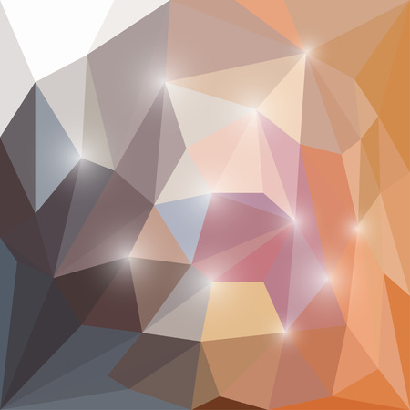 Abstract bright colored polygonal triangular background with glaring lights  for use in design