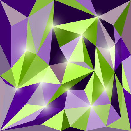 chipping: Abstract polygonal triangular geometric background with glaring lights