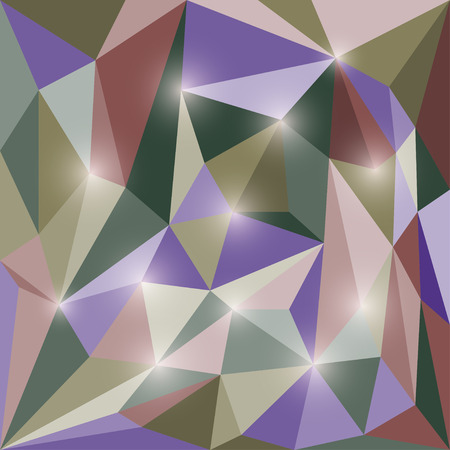 shatter: Abstract polygonal triangular geometric background with glaring lights