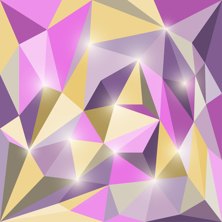reverberation: Abstract polygonal triangular geometric background with glaring lights