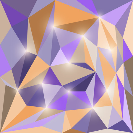 dissimilar: Abstract polygonal triangular geometric background with glaring lights