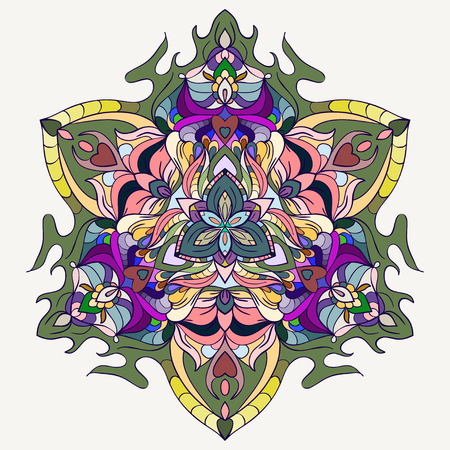 blended: bright blended colored hand-drawing ornamental vector abstract background