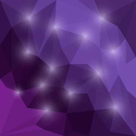 variegated: Abstract bright colored polygonal triangular background with glaring lights  for use in design