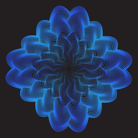 contortion: abstract geometric background from broken blue gradient colored lines