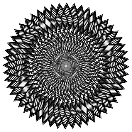 contortion: Abstract geometric black colored lines background