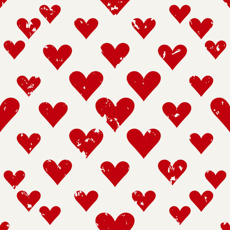 defective old hearts seamless pattern background for use in design for valentines day or wedding Illustration