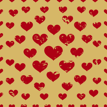 defective: defective old hearts seamless pattern background for use in design for valentines day or wedding Illustration