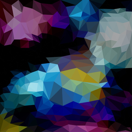 abstract dark colored triangle blended polygonal geometric background for use in design