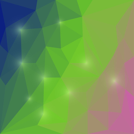 blended: Abstract bright colored polygonal geometric triangular background with glaring lights  for use in design