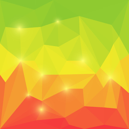 glaring: Abstract bright colored polygonal geometric triangular background with glaring lights  for use in design
