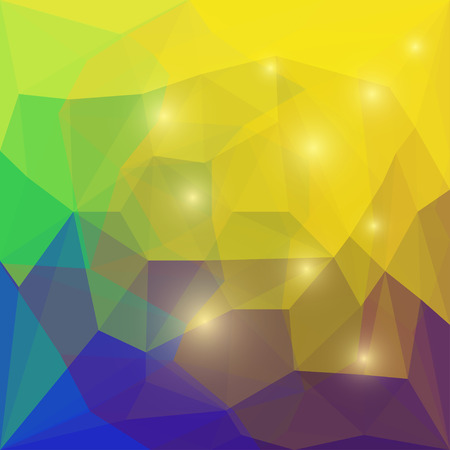 separable: Abstract bright colored polygonal geometric triangular background with glaring lights for use in design for card, invitation, poster, banner, placard or billboard cover