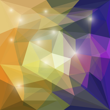 Abstract bright colored polygonal geometric triangular background with glaring lights for use in design for card, invitation, poster, banner, placard or billboard cover