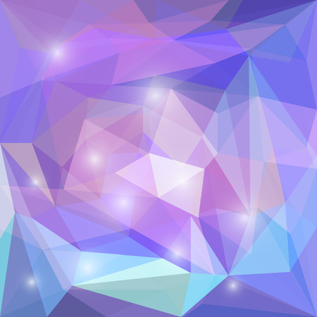 separable: Abstract soft purple colored polygonal geometric triangular background with bright white glaring lights for use in design for card, invitation, poster, banner, placard or billboard cover Illustration