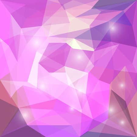 glaring: Abstract bright purple colored polygonal geometric triangular background with glaring lights for use in design for card, invitation, poster, banner, placard or billboard cover Illustration