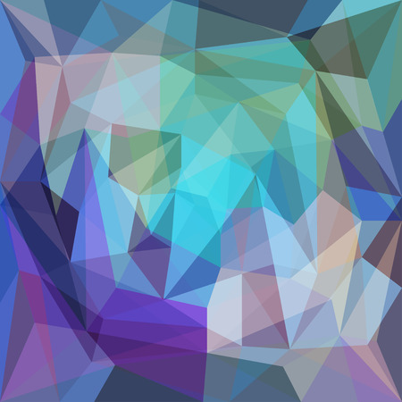 Abstract bright colored polygonal triangular background with glaring lights for use in design for card, invitation, poster, banner, placard or billboard cover