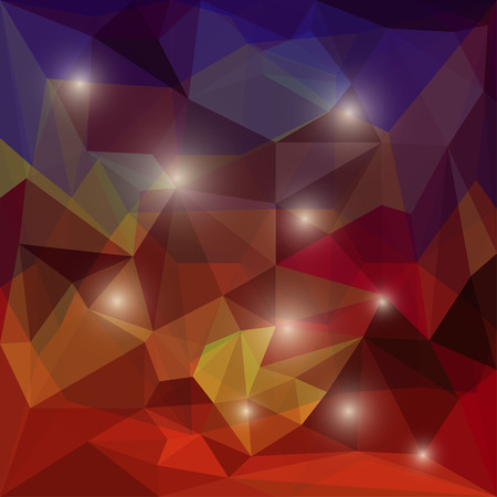 chipping: Abstract bright dark colored polygonal triangular background with glaring lights for use in design for card, invitation, poster, banner, placard or billboard cover