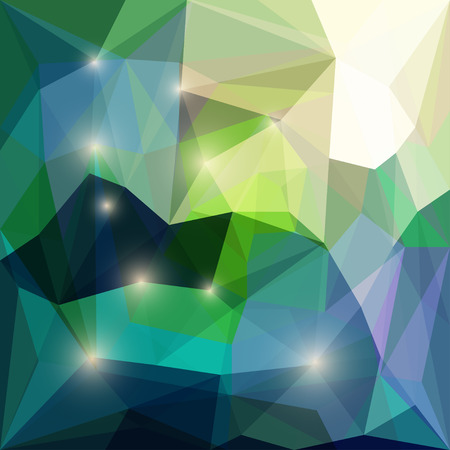 separable: Abstract bright spring green colored polygonal triangular background with glaring lights for use in design for card, invitation, poster, banner, placard or billboard cover