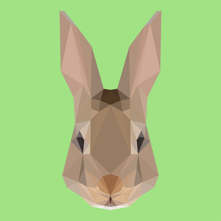 Abstract geometric polygonal rabbit vector background for use in design for card, invitation, poster, banner, placard or billboard cover Vector