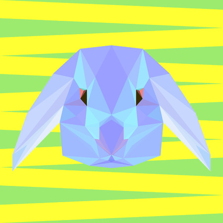 coward: abstract geometric polygonal rabbit vector background for use in design for card, invitation, poster, banner, placard or billboard cover
