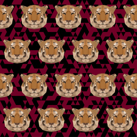 bellow: Abstract geometric polygonal tiger vector background Illustration