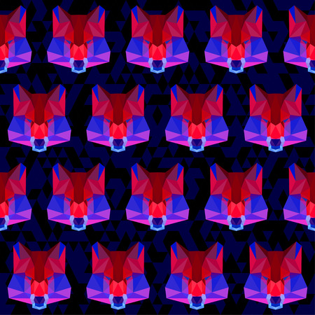 relentless: abstract geometric polygonal wolf seamless pattern background