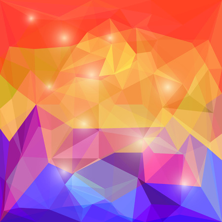 jaded: Abstract bright polygonal triangular background with glaring lights for use in design for card, invitation, poster, banner, placard or billboard cover Illustration
