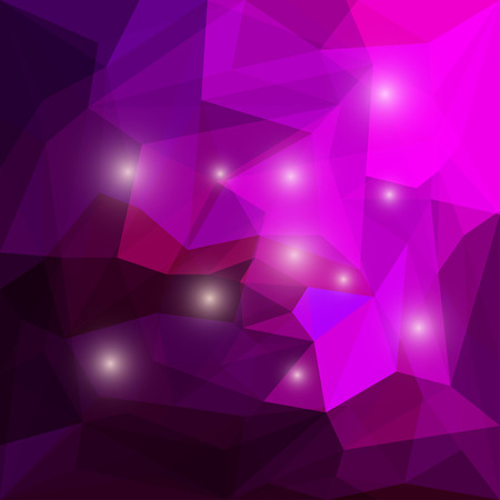 glaring: Abstract bright colored polygonal triangular background with glaring lights for use in design for card, invitation, poster, banner, placard or billboard cover