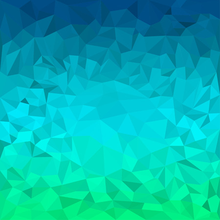crumbling: Abstract bright blue and green motley colored polygonal triangular background for use in design for card, invitation, poster, banner, placard or billboard cover