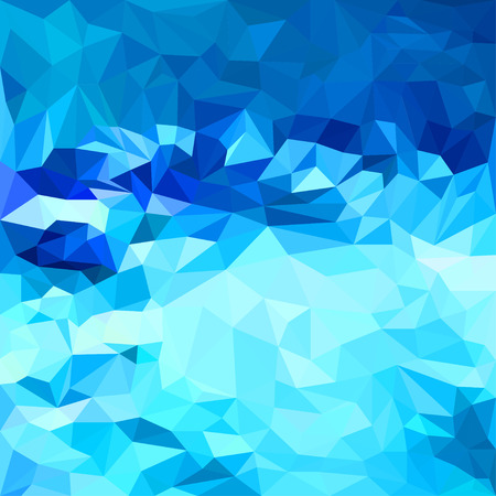 crush: Abstract bright deep sea blue colored polygonal triangular background for use in design for card, invitation, poster, banner, placard or billboard cover