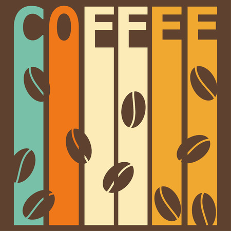 contemporary taste: bright colored illustration on the theme of coffee time for use in design for card, invitation, poster, banner, placard, menu or billboard cover