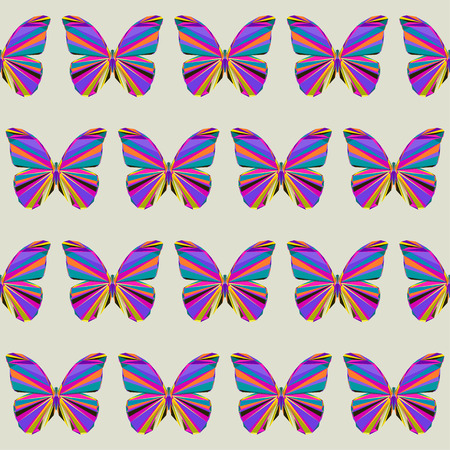 flit: Abstract bright motley colored polygonal triangle geometric butterfly seamless pattern background for use in design