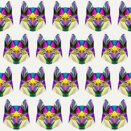 blended: Abstract bright blended colored polygonal triangle geometric husky seamless pattern background for use in design
