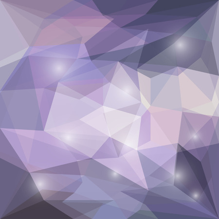 jaded: Abstract lilac colored polygonal vector triangular geometric background with glaring lights for use in design for card, invitation, poster, banner, placard or billboard cover Illustration