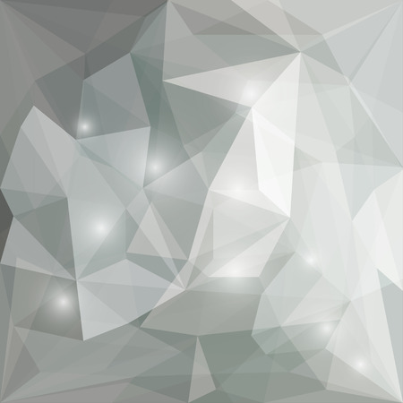 crumbling: Abstract soft grey polygonal vector triangular geometric background with bright glaring lights for use in design for card, invitation, poster, banner, placard or billboard cover