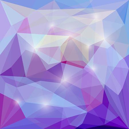 crumbling: Abstract blended polygonal vector triangular geometric background with glaring lights for use in design for card, invitation, poster, banner, placard or billboard cover