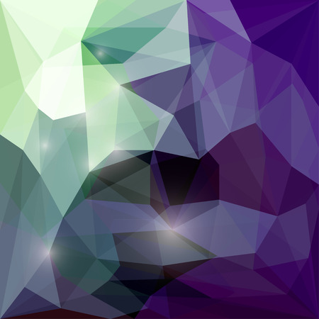 crumbling: Abstract motley polygonal vector triangular geometric background with glaring lights for use in design for card, invitation, poster, banner, placard or billboard cover