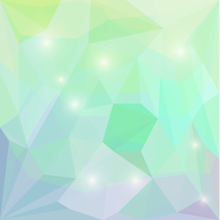 crumbling: Abstract soft spring green colored polygonal vector triangular geometric background with glaring lights for use in design for card, invitation, poster, banner, placard or billboard cover