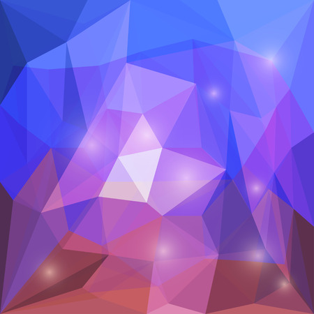 crumbling: Abstract bright colored polygonal vector triangular geometric background with glaring lights for use in design for card, invitation, poster, banner, placard or billboard cover Illustration