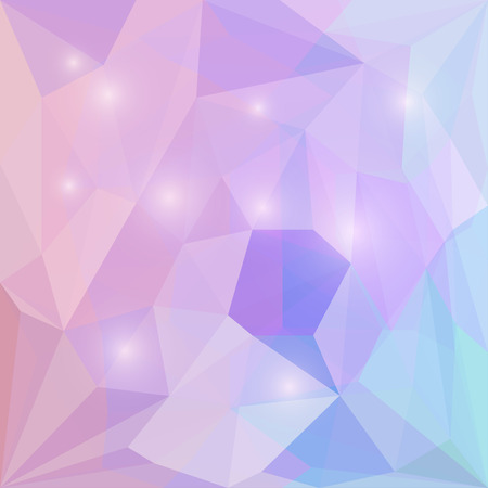 crumbling: Abstract soft purple and blue colored polygonal vector triangular geometric background with glaring lights for use in design for card, invitation, poster, banner, placard or billboard cover