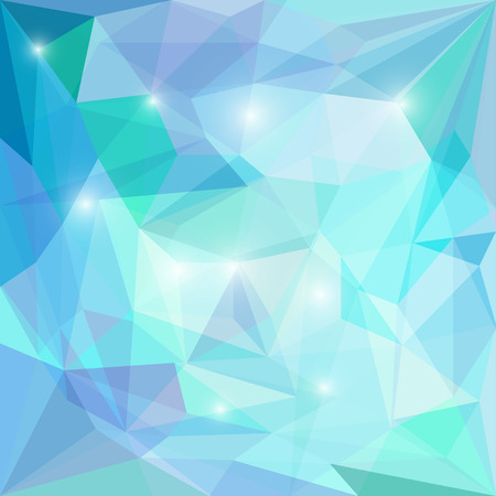 dissimilar: Abstract polygonal vector triangular geometric background with glaring lights for use in design for card, invitation, poster, banner, placard or billboard cover