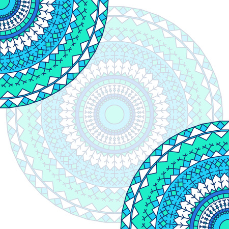datebook: hand drawn lace ethnic card background.Ornamental abstract blue and white template for design card, invitation, poster, brochures, notebook, datebook, pocketbook, album, sketch book cover or pages Illustration