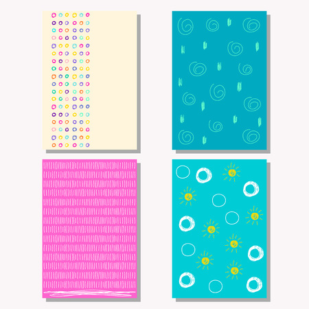 copy book: Hand drawn doodle shapes childish backgrounds collection for design card, book, exercise book, copy book, poster, diary, journal, placard, brochures, notebook, pocketbook, album, sketch book cover
