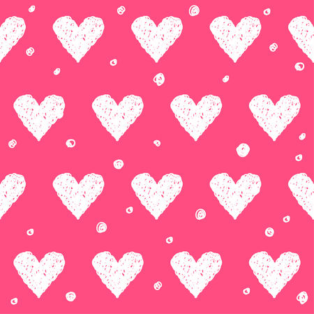 mirth: Doodle romantic love seamless pattern background. Hand drawn simple graphic bright illustration for use in design.