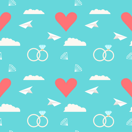 mirth: wedding seamless romantic pattern background