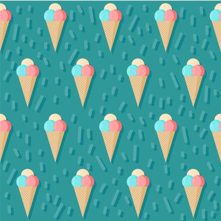icecream sundae: ice cream seamless pattern background