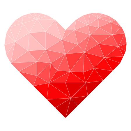 Abstrakt polygonal Herz.