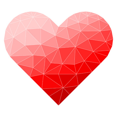 relationship love: Abstract polygonal heart.