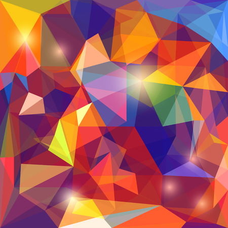 frontal: Abstract geometric poilygonal background Illustration