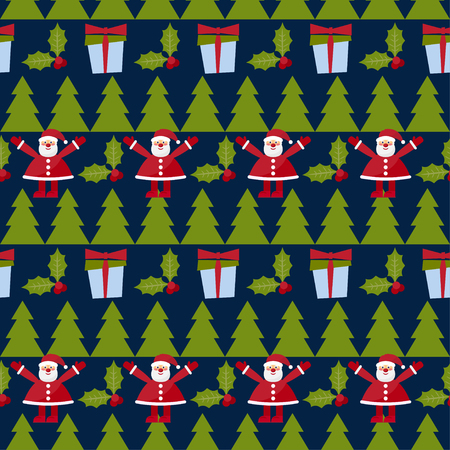 desember: Winter holiday seamless pattern background. New year and happy christmas time theme. Illustration