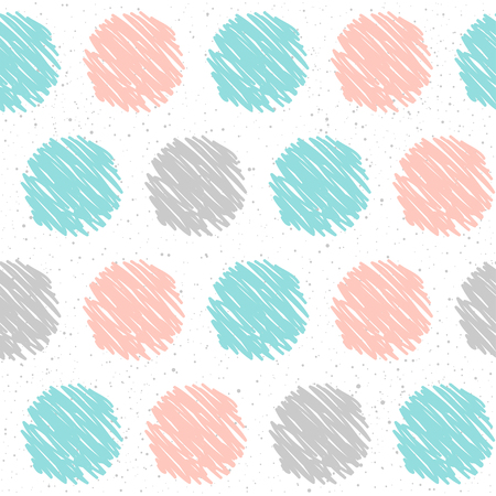 memphis: Doodle handmade round seamless pattern. Abstract hand drawn round background for design t-shirt, card, invitation, and more.
